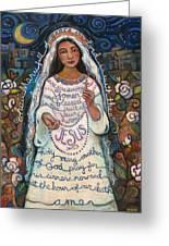 Hail Mary Greeting Card by Jen Norton