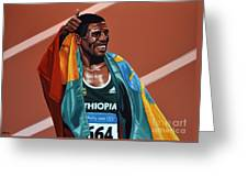 Haile Gebrselassie Greeting Card by Paul Meijering
