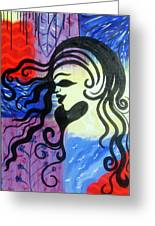 Hair Silhouette Greeting Card by Lorinda Fore