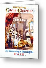 Hair Tonic Advertisement 1860 Greeting Card by Padre Art