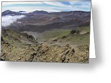 Haleakala Crater Panorama Greeting Card by Brad Scott
