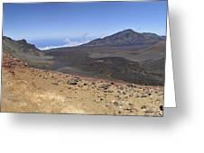 Haleakala Crater Greeting Card by Sami Sarkis