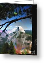 Half Dome Greeting Card by Barbara D Richards