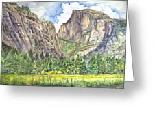 Half Dome In Spring Greeting Card by Heewon Kim