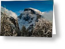 Half Dome Winter Greeting Card by Bill Gallagher