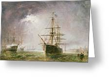 Half Mast High 19th Century Greeting Card by  Robert  Dudley