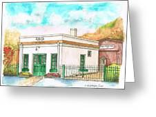 Half Moon Bay Jail And Barn - California Greeting Card by Carlos G Groppa