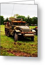 Half- Track Greeting Card by Jame Hayes