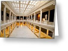Hall of Sculpture Carnegie Museum Greeting Card by Amy Cicconi