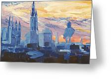 Halle Saale Germany Skyline Greeting Card by M Bleichner