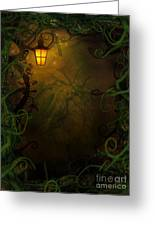 Halloween Background With Spooky Vines Greeting Card by Mythja  Photography