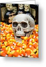 Halloween Candy Corn Greeting Card by Edward Fielding