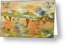 Halloween Clown Morning Tear Drops Reflection Greeting Card by Angela A Stanton
