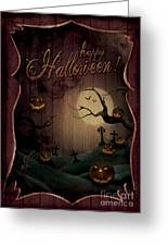 Halloween Design - Pumpkins Theatre Greeting Card by Mythja  Photography