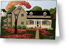 Halloween in Fallbrook Greeting Card by Catherine Holman