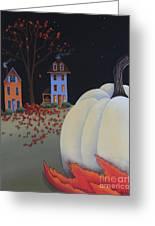 Halloween On Pumpkin Hill Greeting Card by Catherine Holman