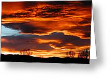 Halloween Sunset Greeting Card by Tim Nielsen