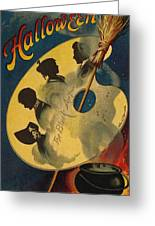 Halloween The Black Art Greeting Card by Ellen Hattie Clapsaddle