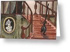 Halloween Witch Greeting Card by Margaryta Yermolayeva