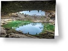 Hamilton Pool Greeting Card by David Morefield