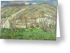 Hamlet In The Cliffs Near Giverny Greeting Card by Claude Monet