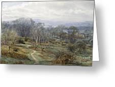 Hampstead Heath Looking Towards Harrow On The Hill Greeting Card by Edith Martineau