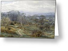 Hampstead Heath Looking Towards Harrow On The Hill Greeting Card by Edith Martineau