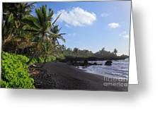 Hana Bay Palms Greeting Card by Inge Johnsson