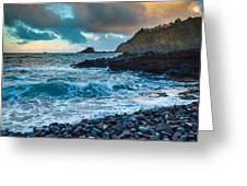 Hana Bay Pebble Beach Greeting Card by Inge Johnsson