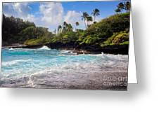 Hana Bay Waves Greeting Card by Inge Johnsson