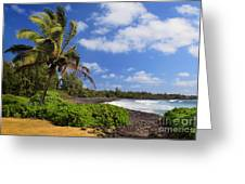 Hana Beach Greeting Card by Inge Johnsson