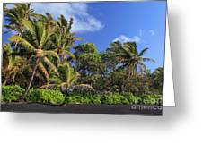 Hana Palm Tree Grove Greeting Card by Inge Johnsson