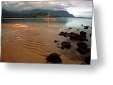 Hanalei Bay At Dawn Greeting Card by Kathy Yates