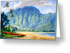 Hanalei Style Greeting Card by Jenifer Prince