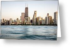 Hancock Building And Chicago Skyline Greeting Card by Paul Velgos