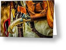 Hand Gun Greeting Card by Louis Dallara