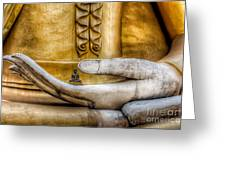 Hand Of Buddha Greeting Card by Adrian Evans