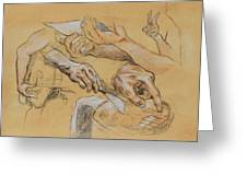 Hand Study 2 Greeting Card by Becky Kim