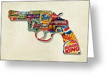 Handgun Logos Greeting Card by Gary Grayson