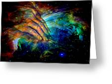 Hands Of Creation Greeting Card by Evelyn Patrick
