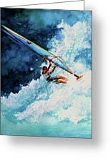 Hang Ten Greeting Card by Hanne Lore Koehler