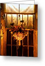 Hanging Basket Greeting Card by Michael Pickett