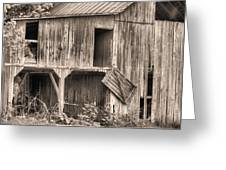 Hanging By A Moment Bw Greeting Card by JC Findley
