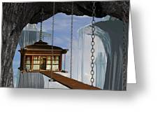 Hanging House Greeting Card by Cynthia Decker