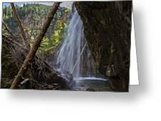 Hanging Lake Falls Greeting Card by Michael J Bauer