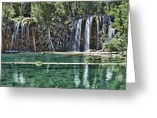Hanging Lake Greeting Card by Priscilla Burgers