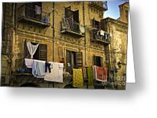 Hanging Out To Dry In Palermo  Greeting Card by Madeline Ellis