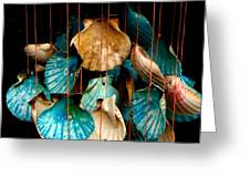 Hanging Together - Sea Shell Wind Chime Greeting Card by Steven Milner