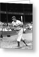 Hank Greenberg Pre Game Swinging Greeting Card by Retro Images Archive