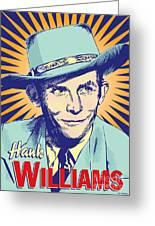 Hank Williams Pop Art Greeting Card by Jim Zahniser